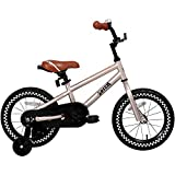JOYSTAR 12 inch Kids Bike for 2 3 4 Years Boys, Child Bicycle with DIY Sticker, Enclose Chain Guard, Training Wheels for Boys & Girls, Silver,