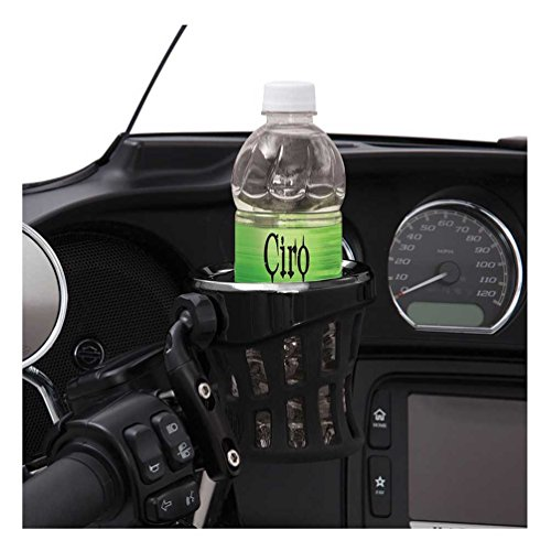 Ciro-Black-Rubber-Drink-Holder-for-Harley-Black-Perch-Mount-Right-or-Left-50611