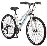 Schwinn High Timber Women's Mountain Bike, 26' Wheels, White/Blue