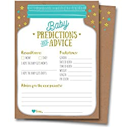 This set of Advice and Prediction Cards from Neatz will surely make your baby shower more fun and memorable! Here's why:   ADD MORE FUN & JOY TO BABY SHOWERS: Features great questions that allow for fun answers and advice from your guests. Adorab...