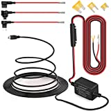 Dash Cam Hardwire Kit Mini USB Hard Wire Car Charger Cable Kit 12V to 5V, with Add-a-Circuit Fuse TAP Holder Mini/Low Profile/Standard ATO Blade Dual Protect Adapter