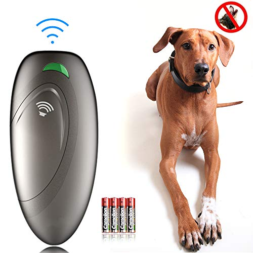 Ultrasonic Dog Barking Control Devices Anti Barking Device Dog Training Aid Handheld Dog Bark Trainer Stop Barking for Walk a Dog Outdoor with Wrist Strap 1