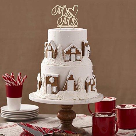 Decorazione per Torte e Cupcake Cake Topper Sposa