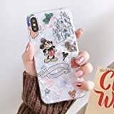 Maxlight Mickey Mouse Minnie Phone Case for iPhone Xs MAX XR X Colorful Conch Shell Soft TPU Cover for iPhone 7 8 Plus Case (A, for iPhone 7plus 8plus)