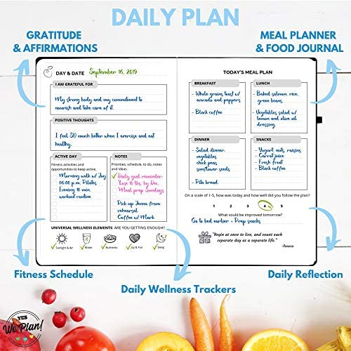 Food Journal & Fitness Diary with Daily Gratitude and Meal Planner for Healthy Living and Weight Loss Diet 4