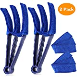Nurkeen Blind Cleaner Tools, Multiple Uses Blind Cleaner, Microfiber Duster for Blinds, 2 PCS Clean Blinds, Window Blinds Cleaner, for Blinds, Shutters, Shades, Air Conditioner Vents Etc. Blue