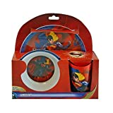 Warner Bros. 3-Piece Superman Man of Steel Dinner Set, Multicolor
