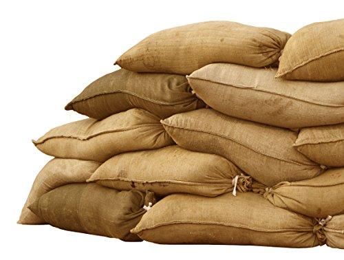 Sandbaggy Burlap Sand Bag - Size: 14' x 26' - Sandbags 50lb Weight Capacity - Sandbags for Flooding - Sand Bag - Flood Water Barrier - Water Curb - Tent Sandbags - Store Bags (50 Bags)