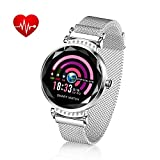 TOP-MAX Fitness Tracker for Women Lover Gift w/Blood Pressure/HR/Sleep Monitor, Activity Trackers Bracelet Waterproof Smartwatches Pedometer w/Step Calorie Counter Counter,Reminder for Android iPhone