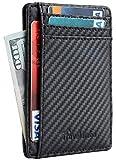 Travelambo Front Pocket Minimalist Leather Slim Wallet RFID...