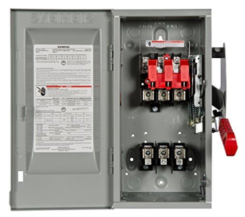 Siemens-HF361-30-Amp-3-Pole-600-volt-3-Wire-Fused-Heavy-Duty-Safety-Switches