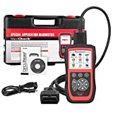 Autel Scanner MaxiCheck Pro for ABS Brake Auto Bleeding OBD2 Scan Diagnostic Tool, with EPB/ABS/SRS/SAS/Airbag/Oil Service Reset/BMS/DPF Service, Software Lifelong Free Update & 1 Year Warranty.