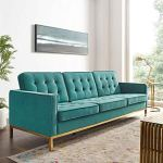 Velvet Upholstered Sofa - Goldilocks Effect