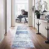 Area Rug 2'2' x 7'Vintage Blue Carpet Indoor Outdoor Mat Modern Floorcover Kitchen Living Room