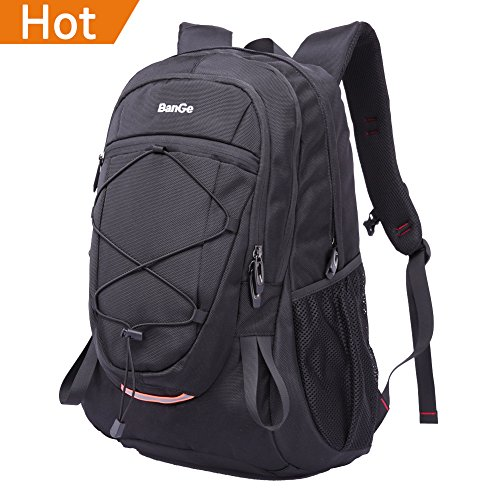 Backpack Outdoor Sport Hiking Camping Black Backpack for Men Lightweight with Reflective Strips Waterproof Travel Daypack, 40l