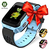 OLTEC 【2019 Update】 Smart Watch for Kids - Smart Watches for Boys Smartwatch GPS Tracker Watch Wrist Android Mobile Camera Cell Phone Best Gift for Girls Children boy Pink Blue Yellow (Blue)