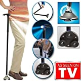 Trusty Cane LED Folding, Walking,Triple Head Pivot Base Hurry Now As Seen on TV 3 built-in LED lights, features 1 forward and 2 down to light your way