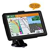 GPS Navigation for Car, 7 inches GPS Navigator System with Lifetime Maps, Spoken Turn-by-Turn Directions, Direct Access, Driver Alerts (Black)
