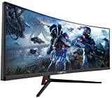 Sceptre 30-inch Curved Gaming Monitor 21:9 2560x1080p Ultrawide Ultra Slim HDMI DisplayPort up to 200Hz AMD FreeSync FPS-RTS Build-in Speakers, Metal Black (C305B-200UN) 2019