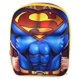 DC Comics Superman Muscle Molded Chest Kids 16 Backpack