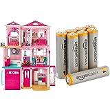 Barbie Dreamhouse with Amazon Basics AAA Batteries Bundle