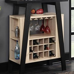 Convenience Concepts Newport Bar Console, Black / Weathered White