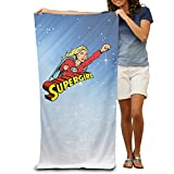 LCYC Supergirl Adult Colorful Beach Or Pool Bath Towel 80cm*130cm