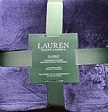 Lauren Ralph Lauren Plush Micromink Blanket - Navy - Queen / Full