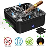 GESPERT Multifunctional Ashtray Air Purifier Volume Dust Free Smoking High Performance Activated Carbon Filter to Clean Secondhand Smoke USB Charging Protect Family Health for Home Office Car