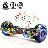 FLYING-ANT Hoverboards UL Certified 6.5 Smart Scooter Two-Wheel self Balancing Electric Scooter Light Free Bag...