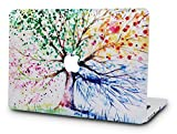 KECC Laptop Case for MacBook Pro 13' (2019/2018/2017/2016) Plastic Hard Shell Cover A1989/A1706/A1708 Touch Bar (Four Season Tree)