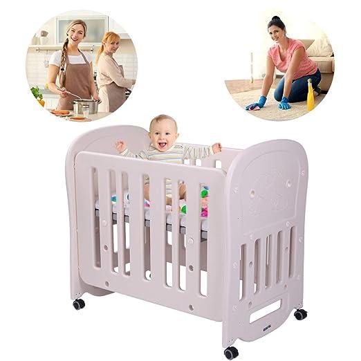 JOYMOR 4-in-1 Baby BPA-Free Mini Crib & Toddler Bed Playard