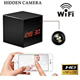 ProElite WL01 Wifi Enabled Clock With Hidden Camera & SD card Slot for All Phones (Black)