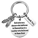 MIXJOY Dance Teacher Gift Dance Teacher Keychain Dance Jewelry for Dance Instructors Thank You Gifts for Teachers Birthday Valentine's Day for Teachers