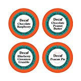 Decaffeinated Flavored Coffee Variety Sampler Pack, Keurig K-cup Compatible, 24 Count, Decaf Chocolate Peanut Butter, Decaf Blueberry Cinnamon Crumble, Decaf Pecan Pie, Decaf Chocolate Raspberry