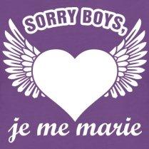 Spreadshirt-EVJF-Marie-Sorry-Boys-Je-Me-Marie-T-Shirt-Premium-Femme