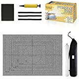 Jigsaw Puzzle Mat Roll Up - Saver Large Puzzles Board For Adults Kids 300 500 1000 1500 2000 2500 3000 Pieces, Storage And Transport Premium Pump Puzzle Glue Puzzles Felt Mat Inflatable Tube