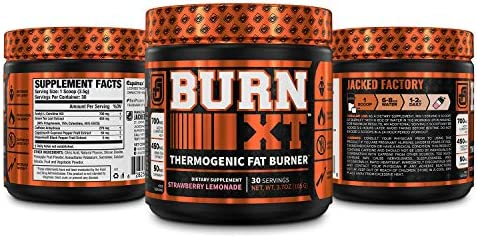 Burn-XT Thermogenic Fat Burner Powder - Weight Loss Supplement, Appetite Suppressant, Pre Workout Energy Booster - Acetyl L Carnitine, Green Tea Extract (EGCG), Capsimax - 30 Sv, Strawberry Lemonade 6
