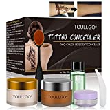 Tattoo Concealer, Pro Concealer, Tattoo Concealer Waterproof, Concealer Makeup, Cream Concealer, Professional Waterproof Concealer Set to Cover Tattoo/Scar/Birthmarks/Vitiligo, TWO-COLOR