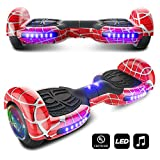 CHO Spider Wheels Series Hoverboard UL2272 Certified Hover Board with 6.5 inch Wheels Electric Scooter Smart Self Balancing Wheels (Red)