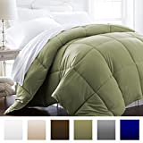 Beckham Hotel Collection 1600 Series - Lightweight - Luxury Goose Down Alternative Comforter - Hotel Quality Comforter and Hypoallergenic - Twin/Twin XL - Olive