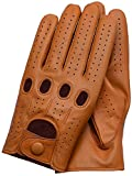 Riparo Women's Unlined Leather Driving and Riding Gloves (7.5, Tan)