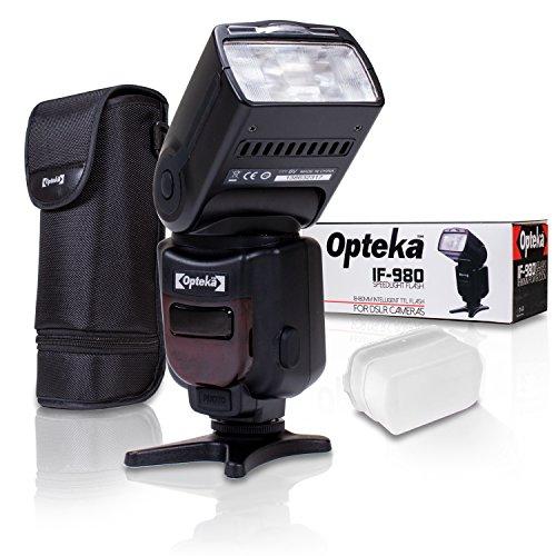 Opteka IF-980 E-TTL AF Dedicated Flash w/Bounce, Zoom, Tilt, LCD Display for Nikon D7500 D7200 D7100 D5600 D5500 D5300 D5200 D3400 D3300 D3200 D3100 D750 D610 D600 D500 D90 D80 D70 D60 DSLR Cameras
