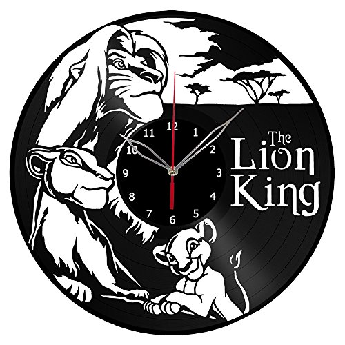 Lion King Vinyl Record Wall Clock Fan Art Handmade Decor Unique Decorative Vinyl Clock 12