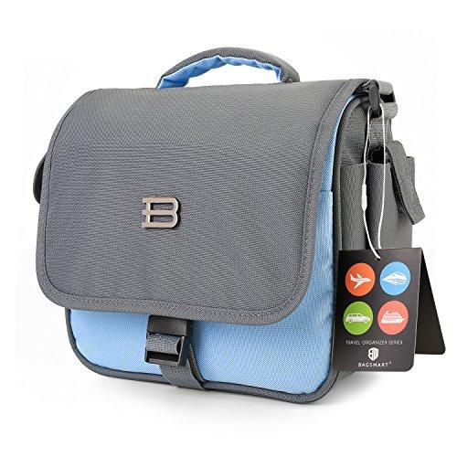 BAGSMART Digital SLR/DSLR Compact Camera Shoulder Bag, Travel SLR Gadget Bag, Light Blue