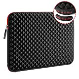 WIWU 17.3 Inch Diamond Laptop Sleeve Case with Super Corner Protection & Water Repellent Laptop Bag for MacBook Pro/Dell Inspiron/MSI/HP Pavilion/Lenovo ideapad/Acer/Alienware 17/HP Omen
