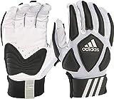 adidas Scorch Destroy 2 Lineman Gloves Full Finger, White/Black, Large