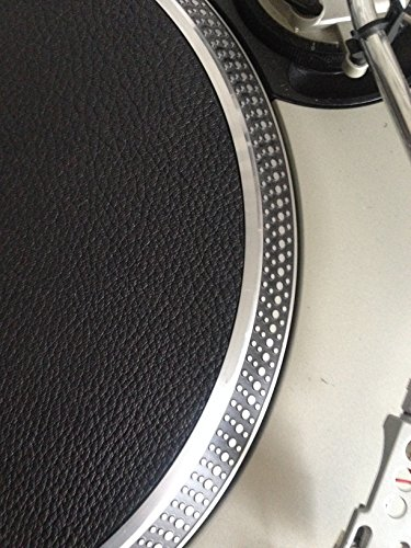 Premium Leather Deer Hide Turntable Mat