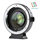 VILTROX EF-M2 Auto Focus Lens Mount Adapter Converter 0.71X Compatible for Canon EOS EF EF-S Lens to Micro Four Thirds (MTF, M4/3) Cameras