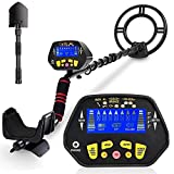 RM RICOMAX Metal Detector for Adults -【High-Accuracy】Metal Detector Waterproof with LCD Display 【P/P Function & Discrimination Mode & Distinctive Audio Prompt】10' Waterproof Search Coil for Underwater